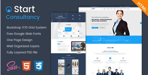 company onepage website templates 2016 40 best consulting html website templates 2018 business