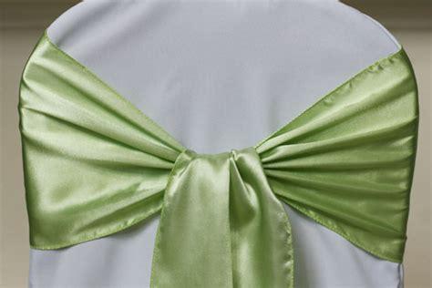 pistachio green chair sashes