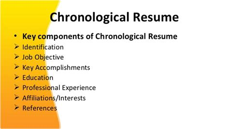 Chronological Resume Ppt by Resume Ppt For Free