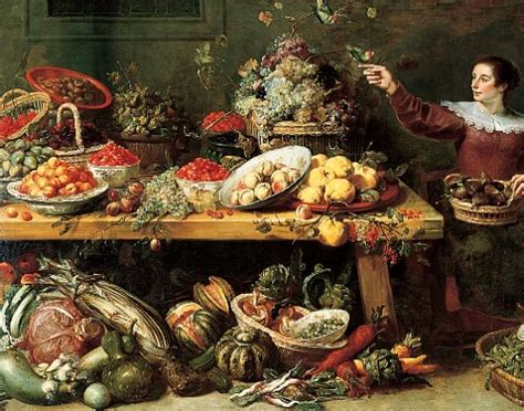 17th century cuisine frans snyders still with fruit and vegetables 17th century most epic of still lifes