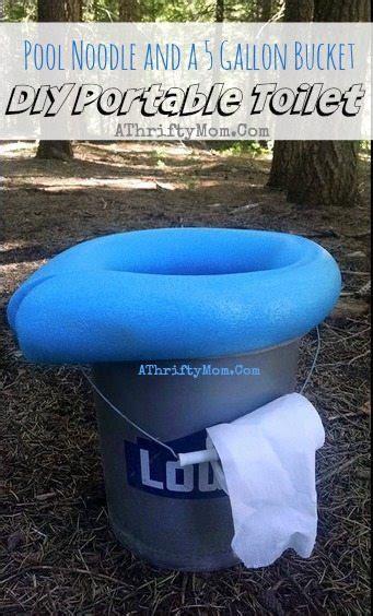 diy portable camping toilet     gallon bucket