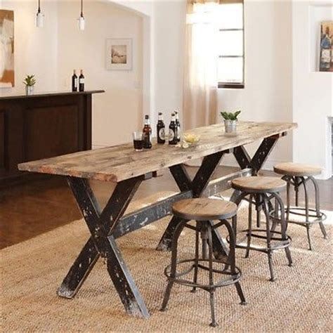 pub bar tables and stools on
