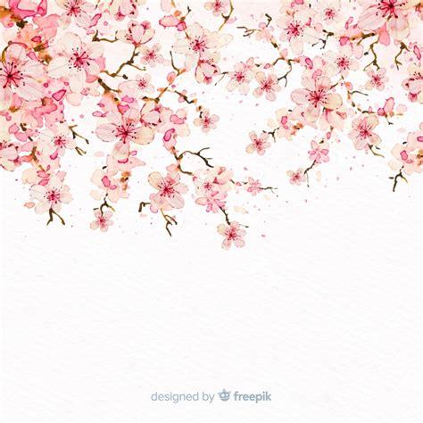 foto de Fundo de ramo de flor de cerejeira em aquarela Vetor Grátis