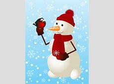 Lustige Schneemann mit niedlichen Vektorgrafik