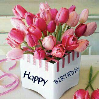 happy birthday stickers shape tulip happy birthday birthday s tulips tulips flowers flowers