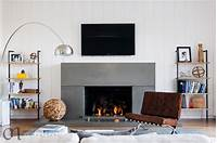 modern fireplace screens Barely-there modern glass fireplace screen - Modern ...