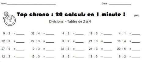 table de multiplication chronometre table de multiplication exercices nestis