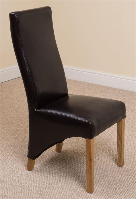 lola dining chair brown leather oak furniture king