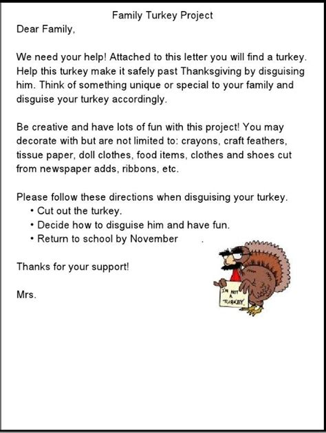 thanksgiving letters turkey project thanksgiving letter
