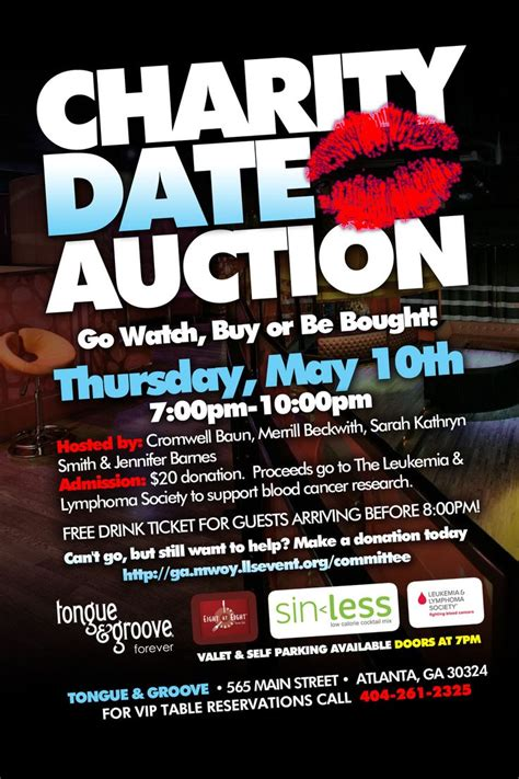 charity date auction valentines day idea  date