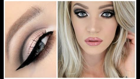 cut crease baby pink lips good  hooded lids  youtube