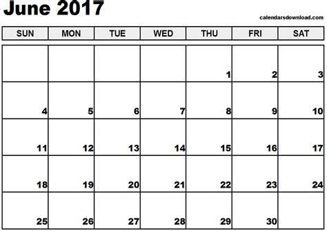 june calendar template 2017 june 2017 calendar printable template pdf holidays calendar printable hub