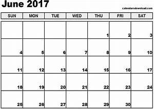 June 2017 Calendar Printable Template Holidays PDF ...