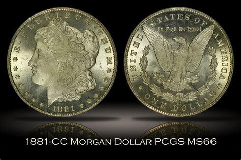 1881-cc Morgan Silver Dollar Pcgs Ms66 Bright White