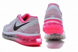 Nike Air Max 2014 Women LightGray Peach Running Shoes
