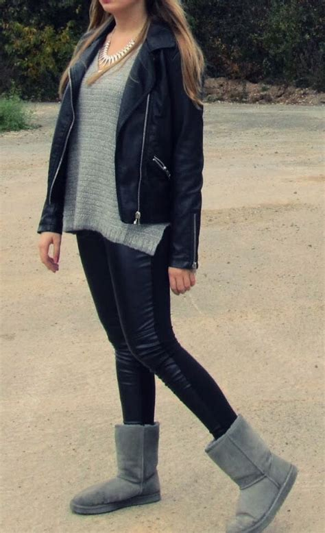 leather leggings  uggs  combo leather