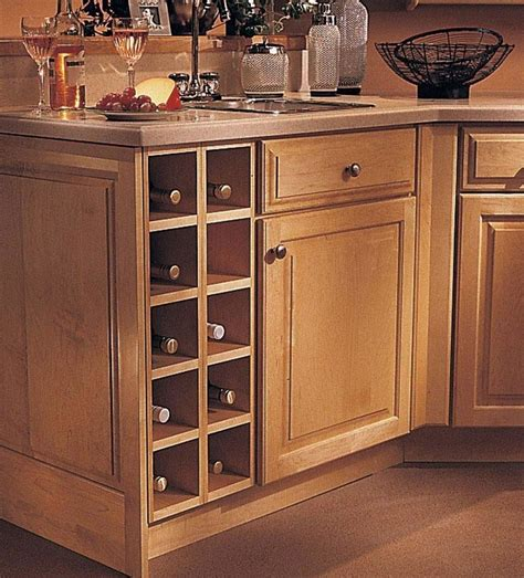 wine storage in kitchen cabinets base wine rack cabinet kraftmaid 1915