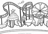 Amusement Coloring Parque Activities Template Softbol sketch template