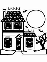 Haunted Coloring Pages Halloween Printable Clipart Sheet Monster Colouring Primarygames Ebook Cut Drawing Pdf Awesome Drawings Svg Getcoloringpages Ghost Happy sketch template