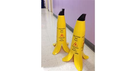 Banana Skin Floor Sign by Quot Banana Peel Floor Signs Quot These Are The