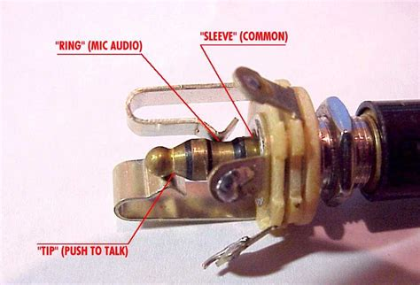 aeroelectric connection aircraft microphone jack wiring