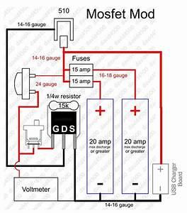 Mosfet Mod  With Volt Meter