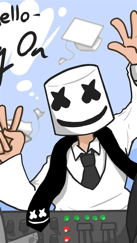 download marshmello moving on 1366x768 resolution hd 4k