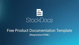 Free Product Documentation Html Template  Stockdocs