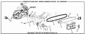 Homelite Ut43103 Electric Chain Saw Parts Diagram For