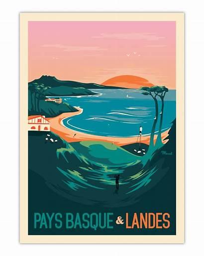 Poster Basque Landes Pays Marcel Cm