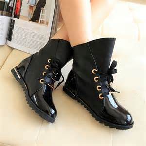 buy boots makeup 39 s patent leather low heel ankle boots lace up flats oxfords shoes ebay