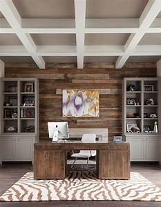 Office accent wall ideas home office contemporary with