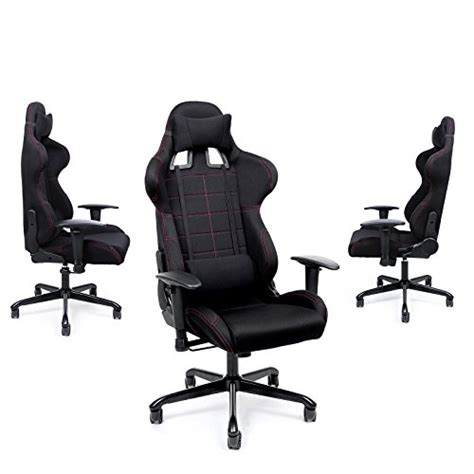 chaise de bureau gamer songmics chaise gamer fauteuil de bureau racing sport avec