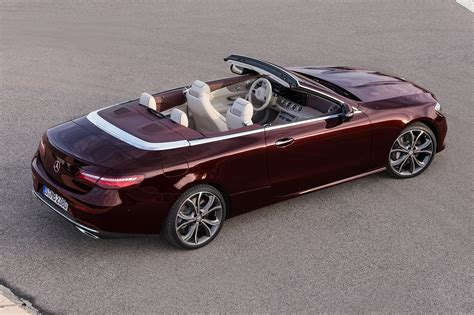 mercedes convertible merc blows the roof off the mercedes e class cabriolet at