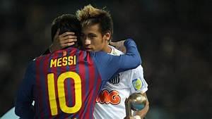 Neymar and lionel messi hugging jpg 300479