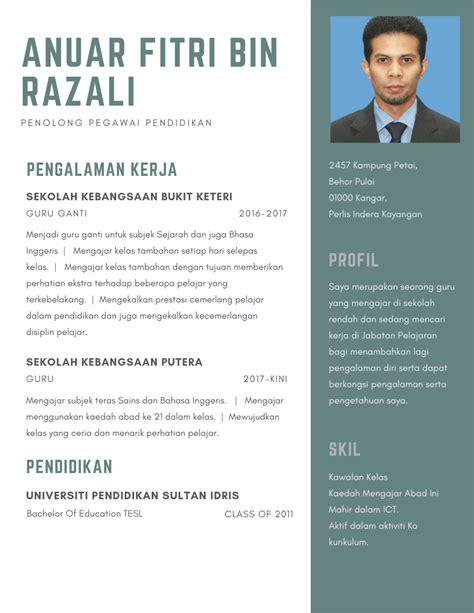 Template Untuk Resume by Template Resume Kerja