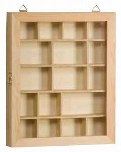 Vitrine En Bois : vitrine en bois a compartiments ~ Teatrodelosmanantiales.com Idées de Décoration