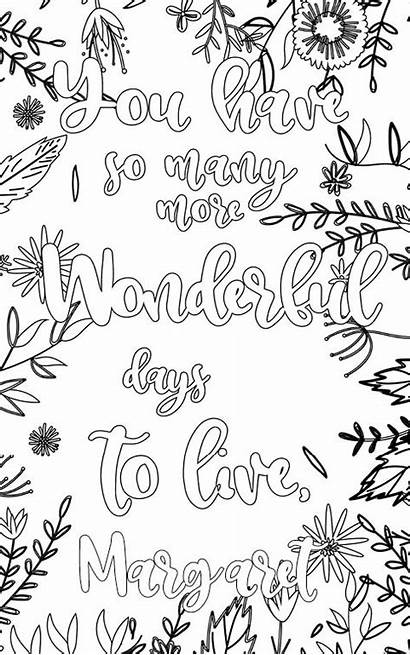 Margaret Personalized Coloring Personalised Pages
