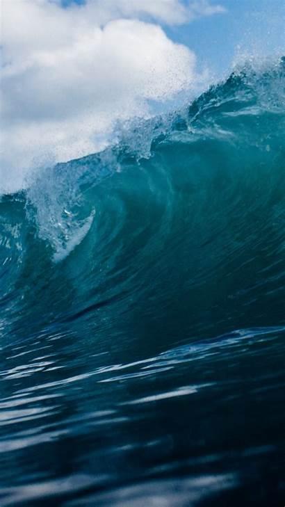 Ocean Wave Waves Iphone Desktop Backgrounds Sea