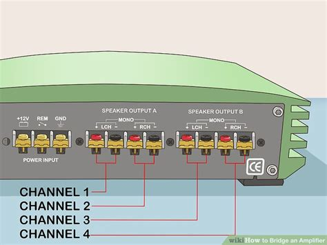 Wire Diagram For Mono And 2 Channel And 2 Sub by How To Bridge An Lifier 7 Steps With Pictures Wikihow