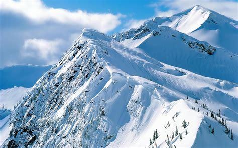 Download Free Snow Covered Mountain Desktop Wallpaper Hd