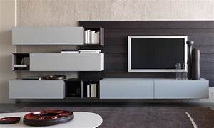 Porte Tv Mural : mobilier composable modulnova more porto venere ~ Teatrodelosmanantiales.com Idées de Décoration