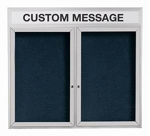 enclosed letter board signs 60 x 36 w custom header With custom letter board