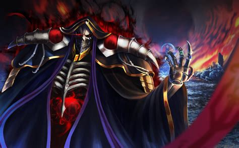 wallpaper of ainz ooal gown overlord background hd image