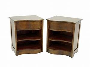 Chevet Bois Massif : chevet vague moka 1 tiroir 1 tag re en bois meubles ~ Teatrodelosmanantiales.com Idées de Décoration