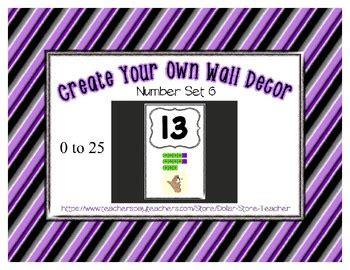 number posters set 6 create your own room preschool 428 | original 3206689 1