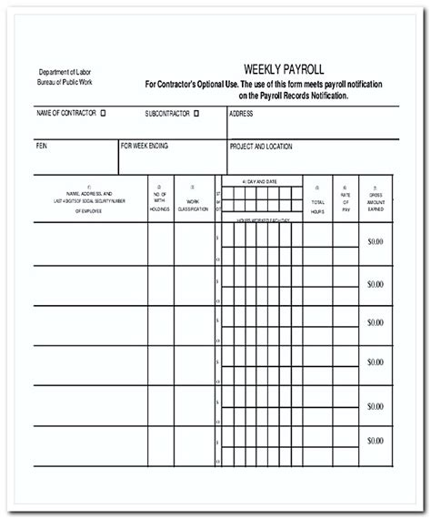 payroll invoice template    web