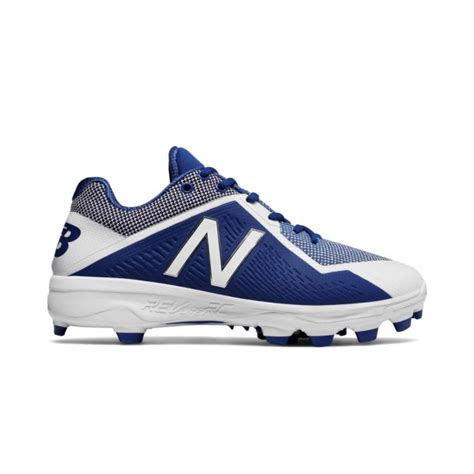 balance royalwhite  rubber baseball cleats