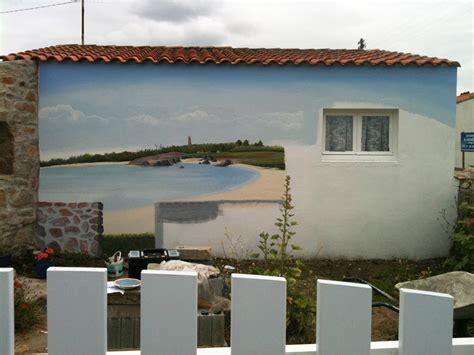 deco chambre peinture murale cuisine fresques murales dã cor peint sur faã ade