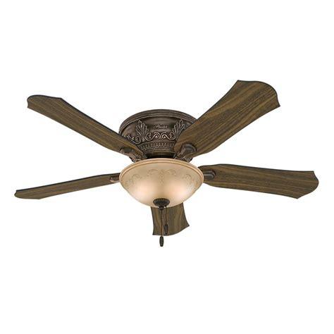 52 ceiling fan with light hunter viente 52 in indoor roman bronze flushmount